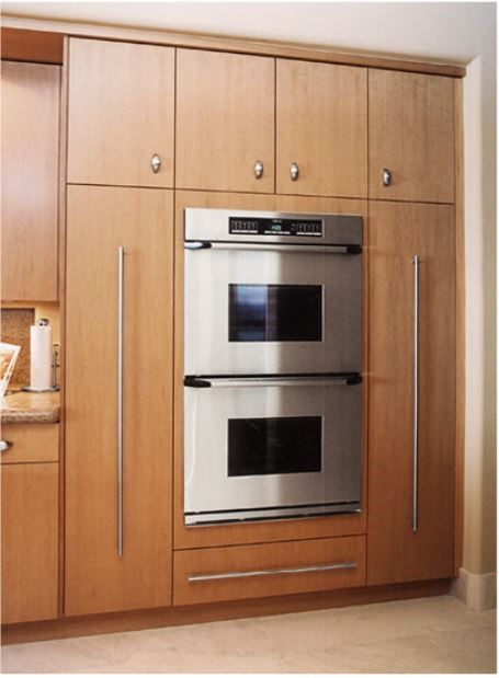 Add double ovens to your designs for increased cooking capacity.