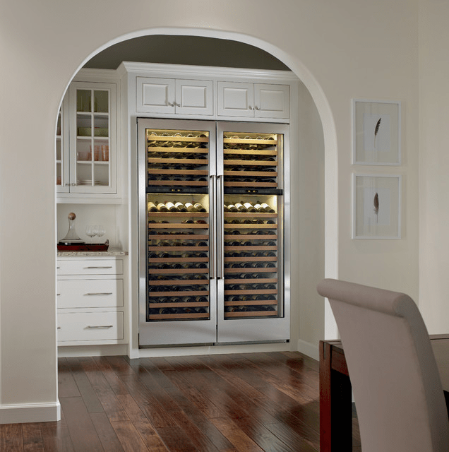 Doubling up on wine refrigerator provides perfect temperature storage for red and white wines.