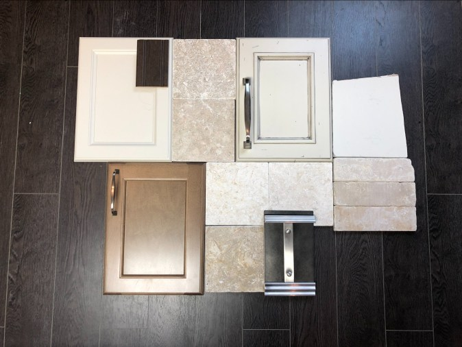 Samples of kitchen materials