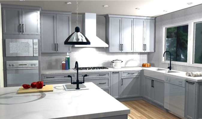 Color perspective of proposed final kitchen