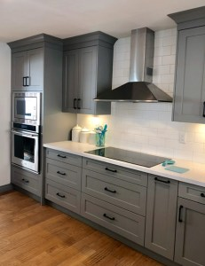 After picture of grey kitchen