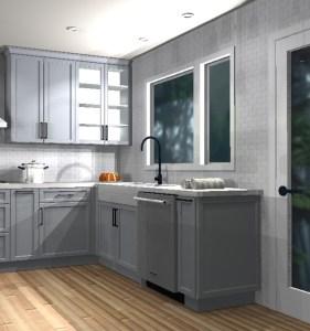 Kitchen rendering of sink area