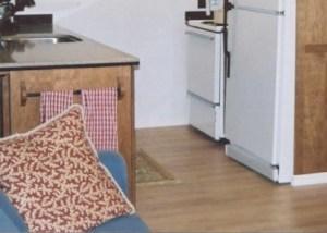 laminate floor installed in kitchen