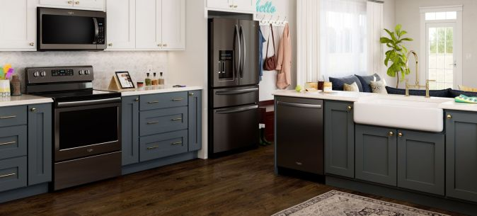 Matte black appliances can update your kitchen designs
