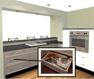 wall oven and cooktop in a modern cooking zone