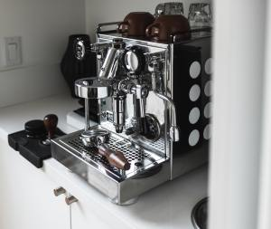 stainless steel commercial style coffee machine