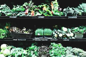 Greens at the super market