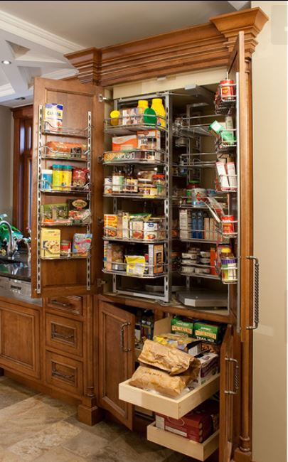 double door pantry with chef's pantry accessory