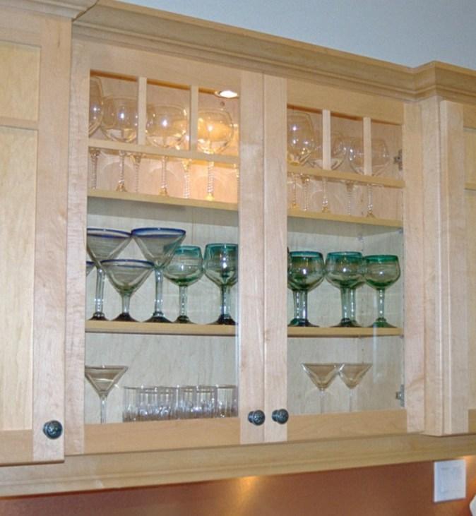 Craftsman style glass doors