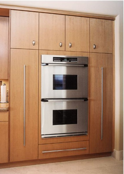 pullout pantries beside wall oven