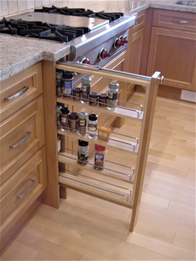 wood condiment pullout