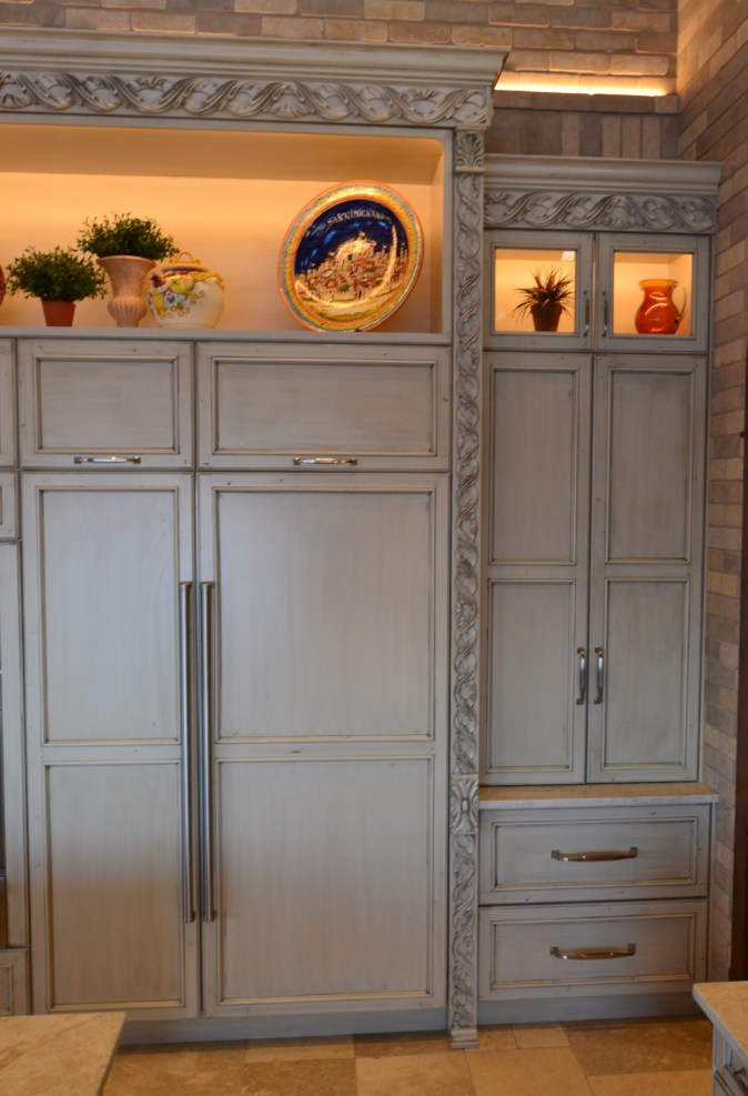 Tuscan style food storage zone