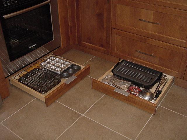 custom plinth drawers