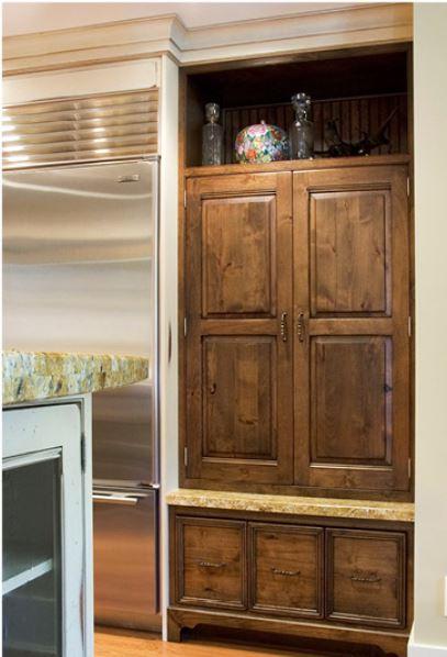 Furniture look food storage zone