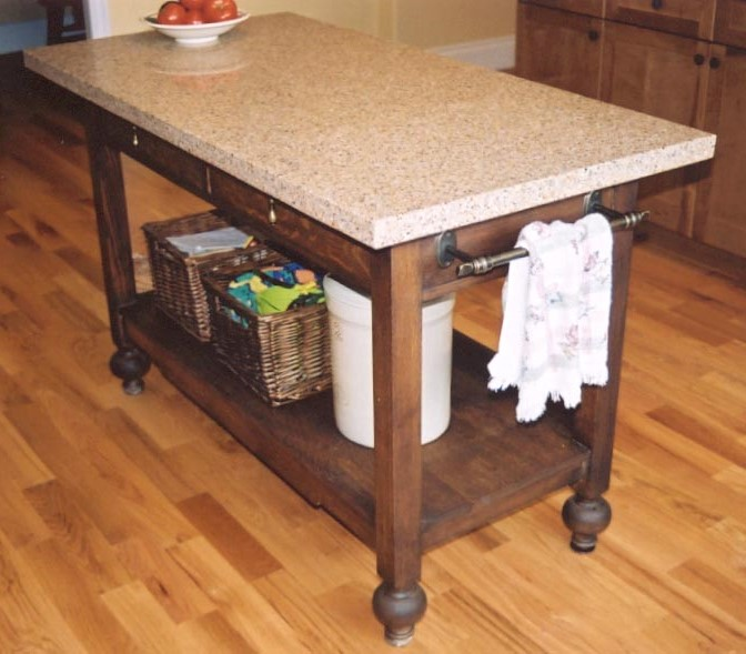 kitchen island made from a furniture piece