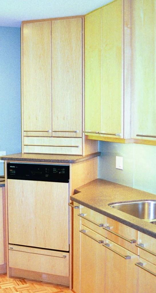 dishwasher raised above the floor