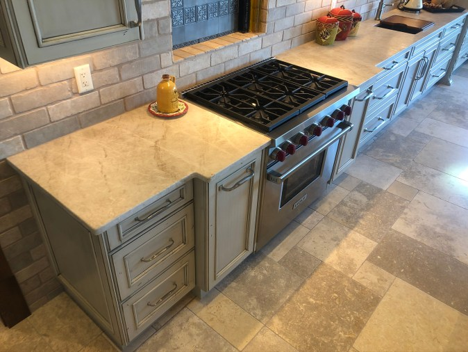 countertop area in cooking zone