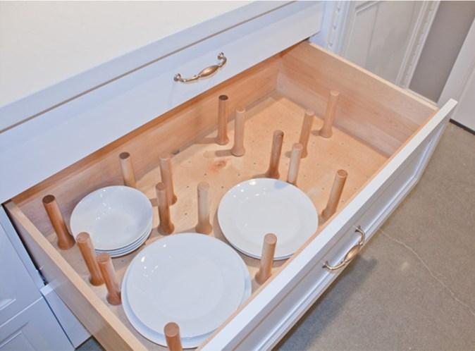 deep drawer for dish storage