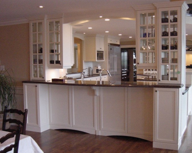 Cabinets on both sides