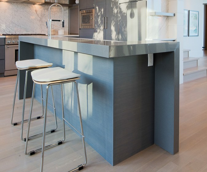 waterfall ends on elevated bar top