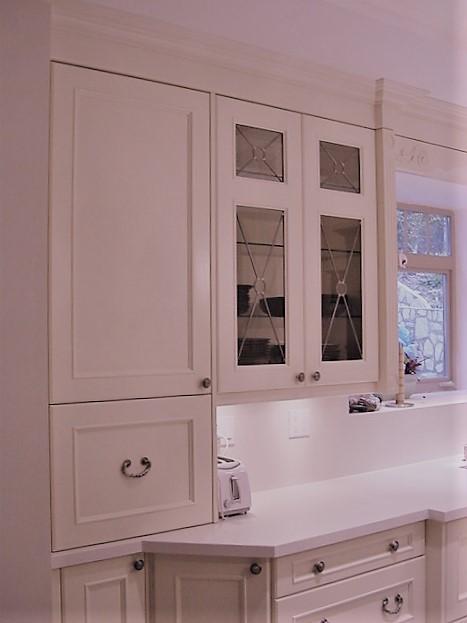 white custom glass lead doors