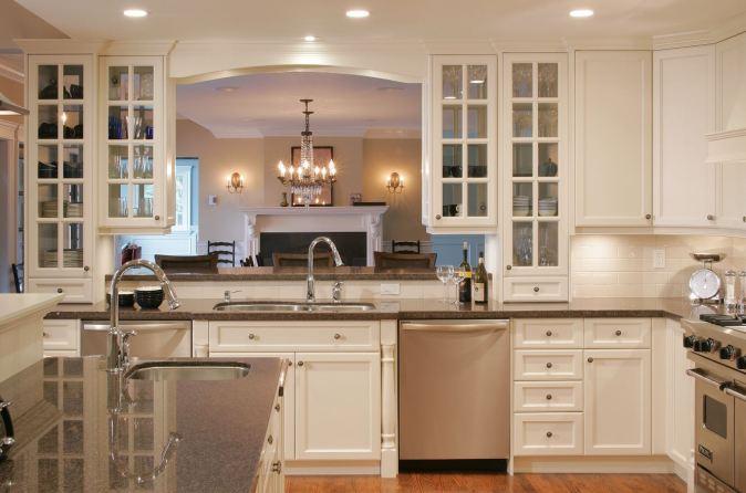 white kitchen clean-up zone