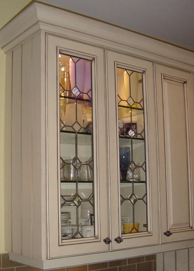 glass door from antique pieces