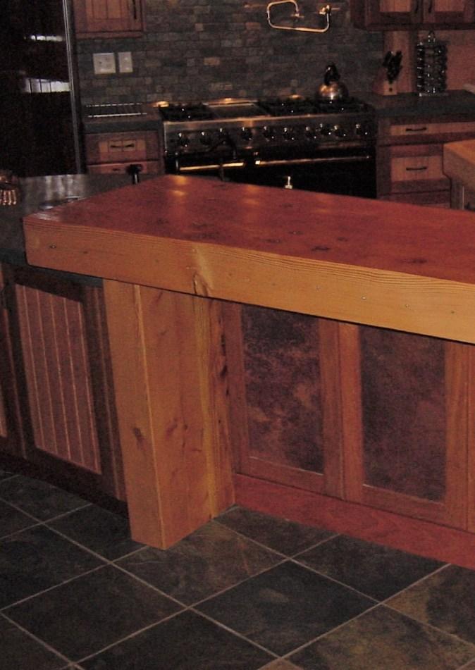 Dining bar from beams