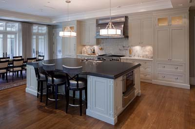 traditional white inset kitchen