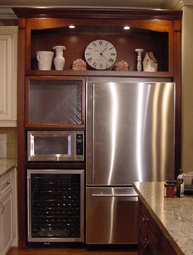 Mw over wine fridge