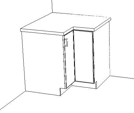 Base corner corner unit