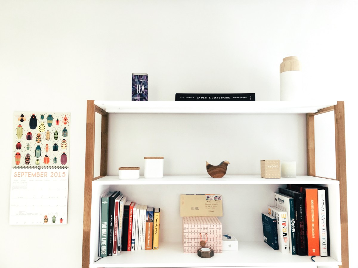 An organized book shelve