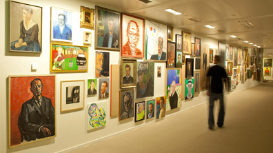 Schrijversgalerij in het Letterkundig Museum