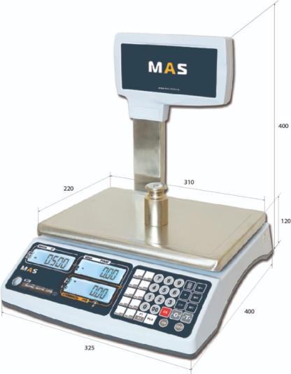 MR1p 3 - Торговые весы MAS MR1-15P