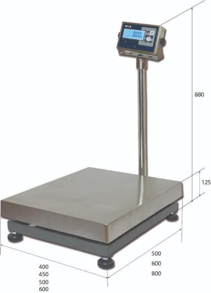 PM1H 3 - Влагозащищённые платформенные весы MAS PM1H-300-6080