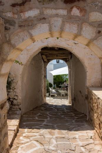 En av inngangene til borgen