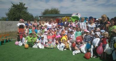 подарки воспитанникам интернатов и детских садиков Днепропетровщины
