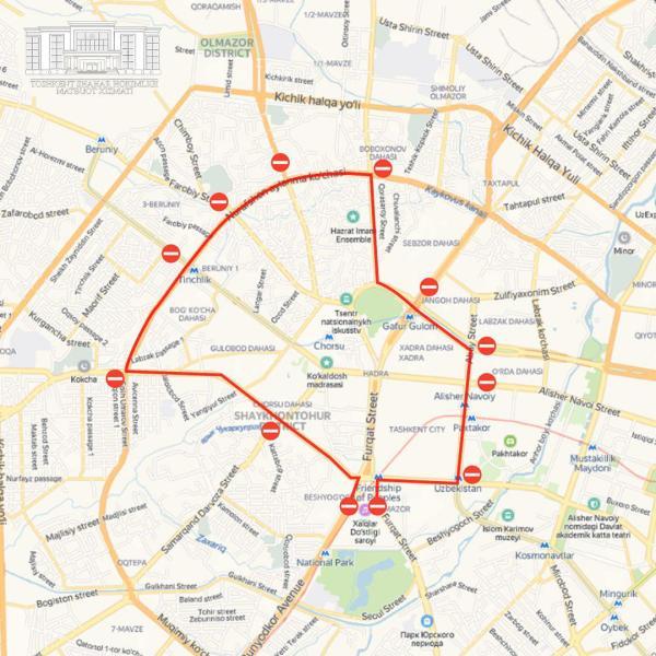 «Вечерняя велопрогулка»: в Ташкенте снова перекрывают центр