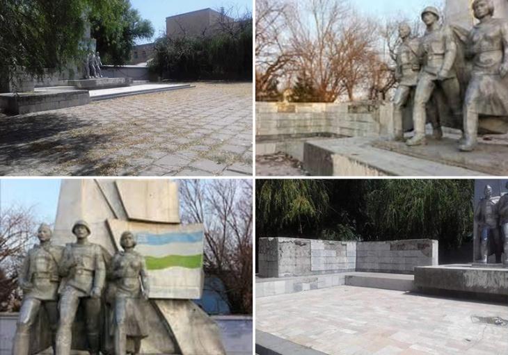 Под Ташкентом убрали памятник героям Великой Отечественной