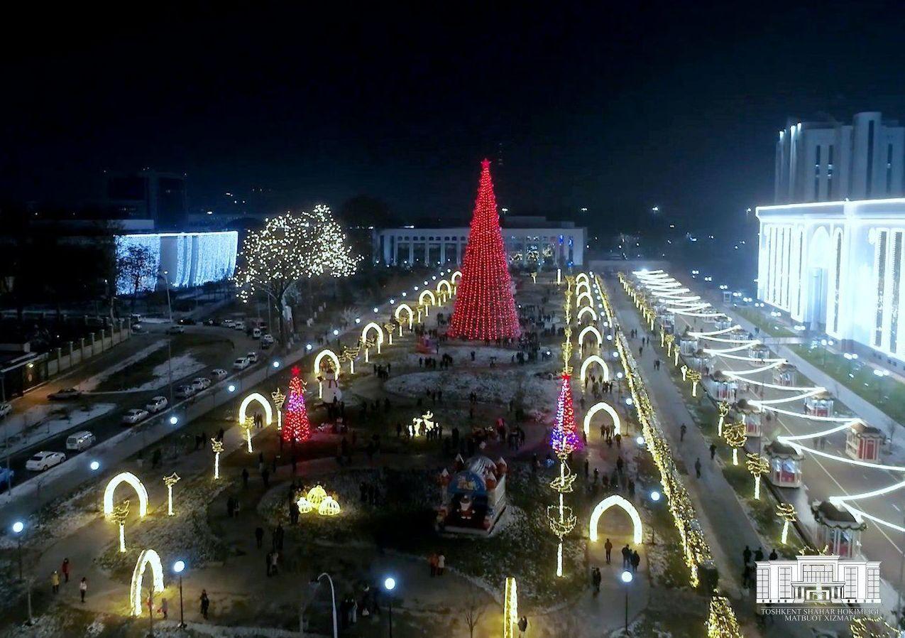 Ташкент озарился главной елкой страны