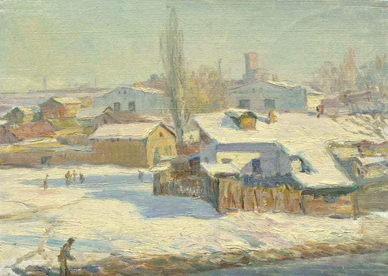 Зима кисти Владимира Петрова