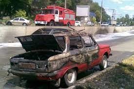 «Запорожец» сгорел в столкновении c Cobalt в столице