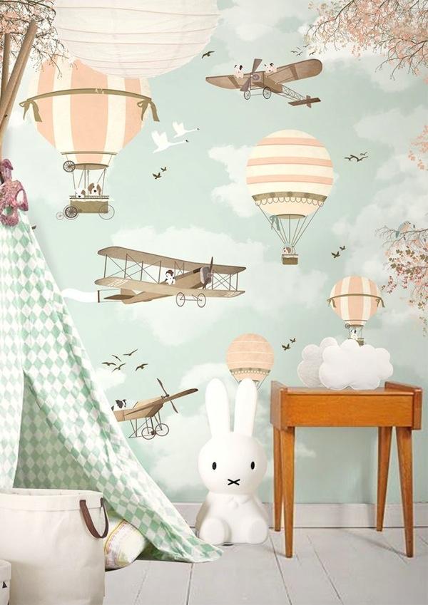 papel de parede estampa balão