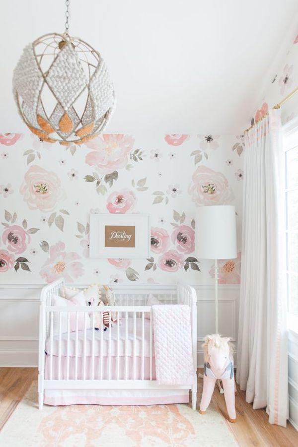 papel de parede meia altura flores