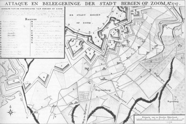 Bergen op Zoom naderingsloopgraven van de Fransen 1747
