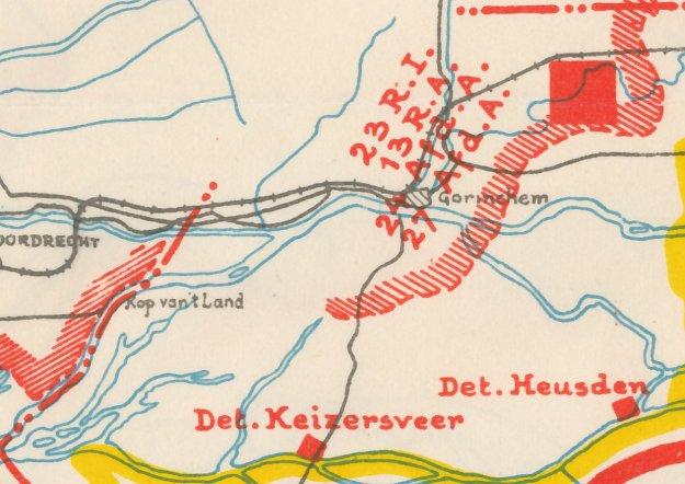 WO2 troepen bij Gorinchem