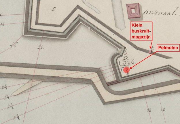 Frgm batt Pelwal krt 1813 bwpng Gorinchem bew vg