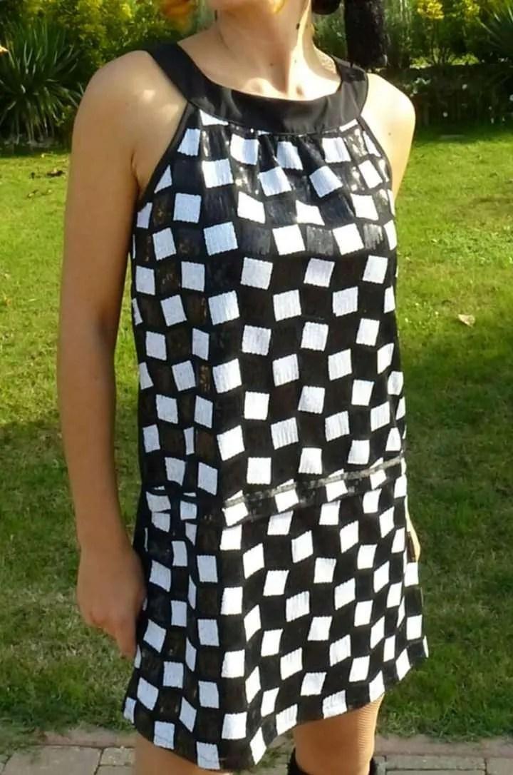lowest price 9b699 d9a78 Vestito donna anni 70 modello Bouchet - Vestiti Swing Vestito donna anni