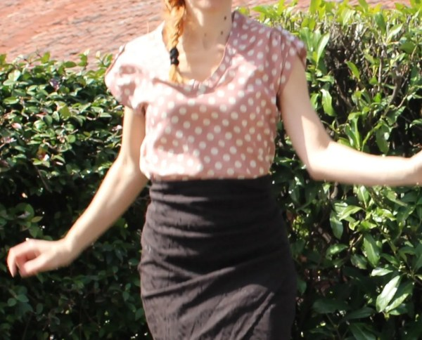 Camicetta blusa rosa antico anni 40