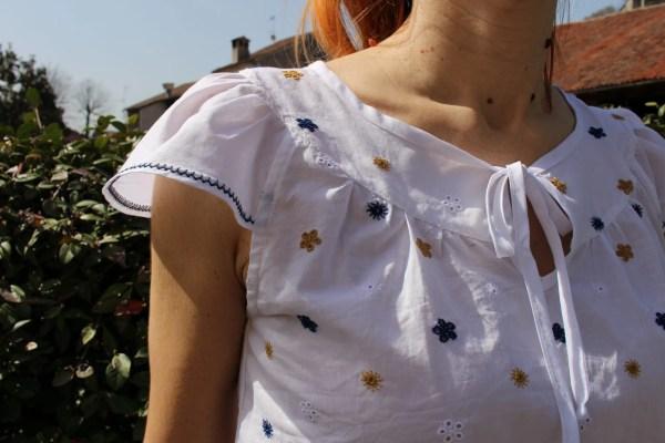 Camicetta blusa arricciata anni 40